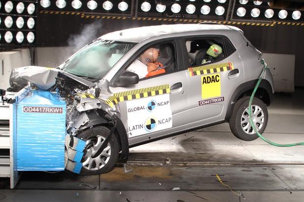 Renault Kwid nacional conquista cinco estrelas nos testes de colisão do Latin NCAP (Foto: Divulgação)
