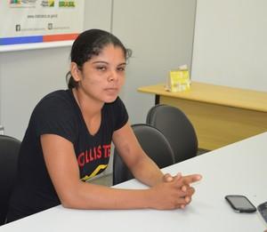 Leandra, jogadora de futsal do Veneza (Foto: Nathacha Albuquerque)