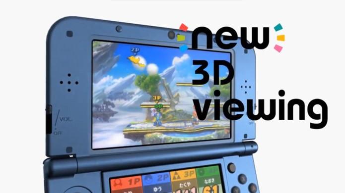 Novo efeito 3D do New Nintendo 3DS permanece mesmo inclinando o portátil (Foto: mynintendonews.com)