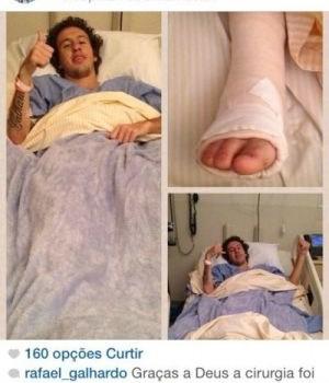 Galhardo cirurgia (Foto: Reprodução / Instagram)