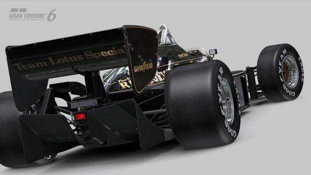 Lotus pilotada por Ayrton Senna em 1985 está em extra gratuito de 'Gran Turismo 6' (Foto: Divulgação/Sony)