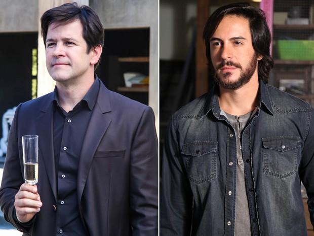 Herval e Jonas serão antagonistas (Foto: Aline Kras/Carol Caminha/TV Globo)