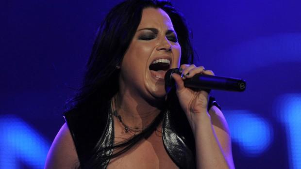 Evanescence subiu ao palco às 21h44 do último dia do Rock in Rio (Foto: Flavio Moraes/G1)