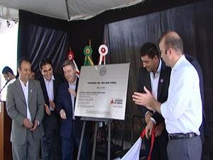 Antonio Anastasia participou da inauguração (Foto: Reprodução/TV Integração)
