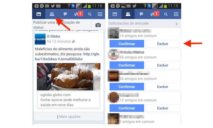 Aceitando ou rejeitando um pedido de amizade através do Facebook Messenger para Android (Foto: Reprodução/Marvin Costa)