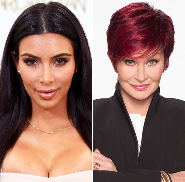 Kim Kardashian e Sharon (Foto: Reprodução)