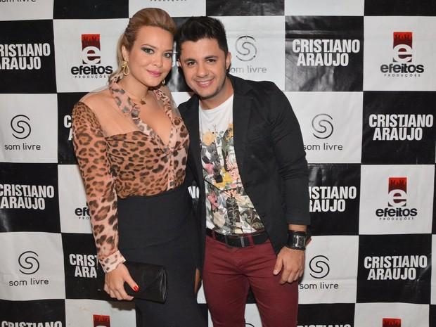 Geisy Arruda e Cristiano Araújo em show em São Paulo (Foto: Caio Duran/ Ag. News)