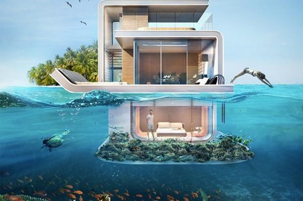 Imóvel em Dubai terá andar totalmente submerso (Foto: Reprodução/THOE)