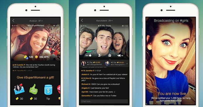 Interaja com outros usuários em transmissões de vídeos ao vivo com YouNow (Foto: Divulgação/AppStore)