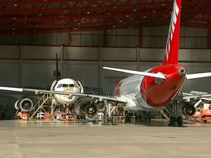 TAM quer novo hangar para manutenção de aeronaves em São Carlos (Foto: Reprodução/EPTV)