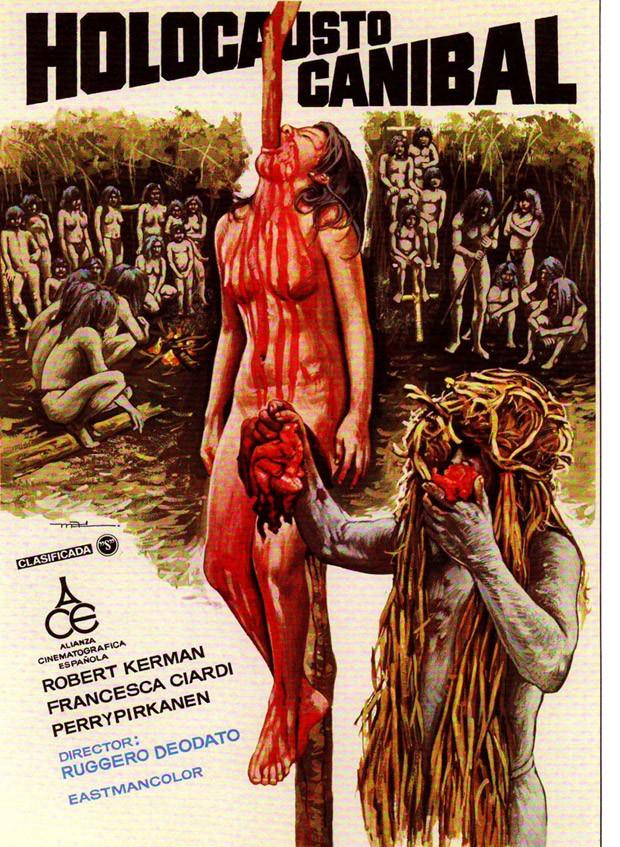 Poster de 'Holocausto Canibal' em sua versão na Espanha (Foto: Reprodução)