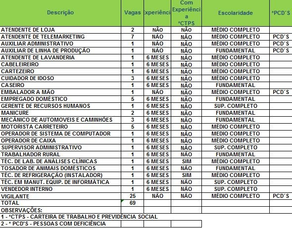 Sine oferece 65 vagas nesta sexta-feira (6) (Foto: Divulgação/Sine)