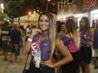 Danielle Favatto curte camarote no Rio e revela desejo de desfilar