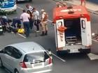 Motociclista fica ferido após batida na Av. Tancredo Neves, em Salvador