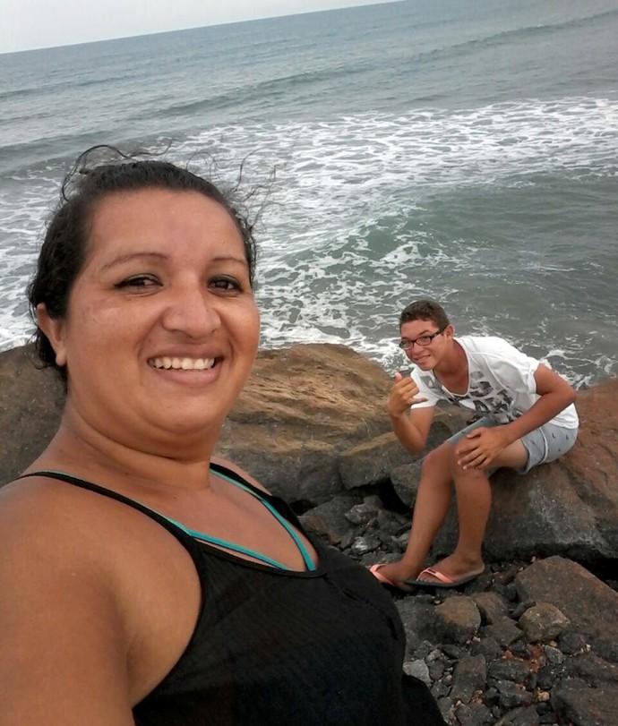 Jessica e Evandro em Luís Correia- PI (Foto: Arquivo Pessoal)