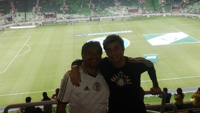 Nilton Cosson e Igor Mota na inauguração da Arena Palmeiras, em novembro (Foto: Arquivo pessoal)