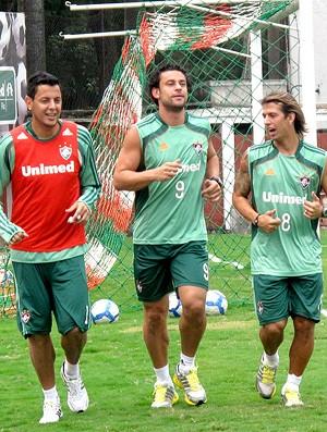 fred fernando henrique diguinho fluminense treino (Foto: Cahê Mota / Globoesporte.com)