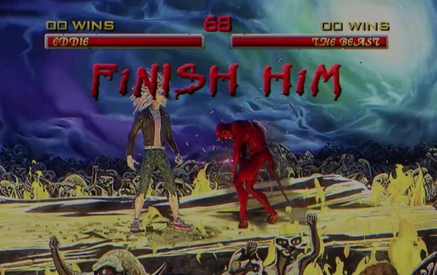 Clipe de 'Speed of light', do Iron Maiden, também homenageia game de luta 'Mortal Kombat' (Foto: Reprodução/YouTube/Iron Maiden)