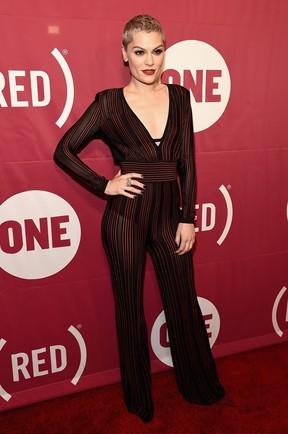 Jessie J em evento em Nova York, nos Estados Unidos (Foto: Theo Wargo/ Getty Images/ AFP)