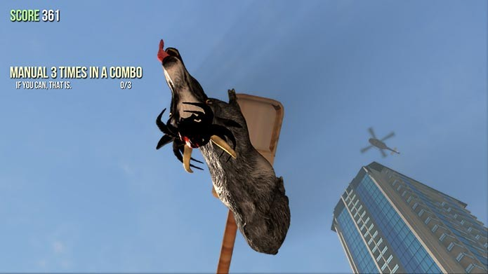 Se pendure em paredes e prédios com os poderes da Spider Goat (Foto: Divulgação/Steam)