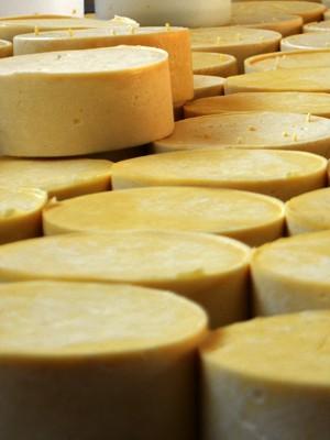 Queijo parmesão artesanal é produzido em Alagoa, MG (Foto: Samantha Silva / G1)