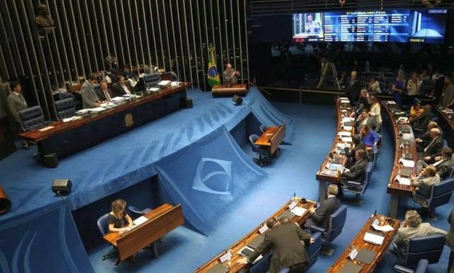 Sessão do Senado (Foto: Ailton de Freitas / Agência O Globo)
