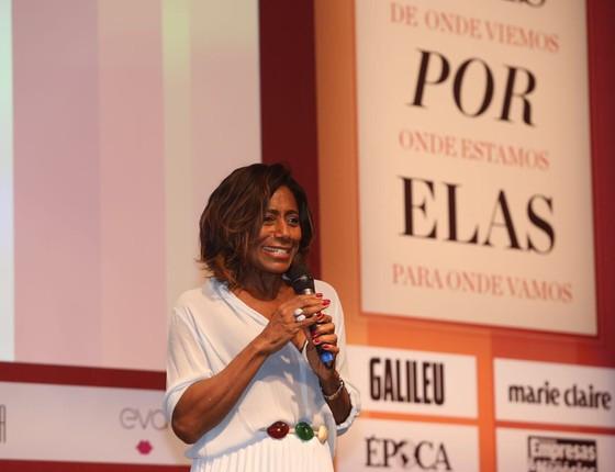 A jornalista Gloria Maria no evento Elas Por Elas (Foto: Divulgação)