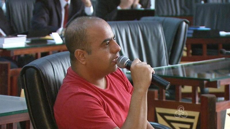 O acusado Jardel Lima relatou casos estarrecedores para os integrantes da CPI que estão no Acre (Foto: TV Acre)