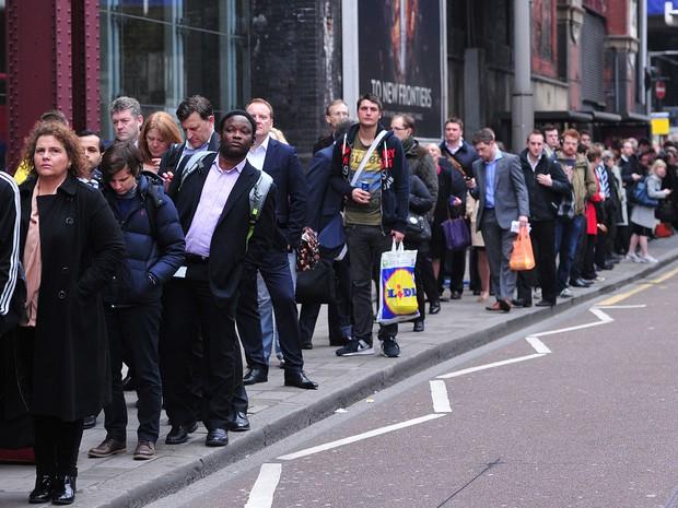 Greve do metrô provoca caos no transporte público de Londres (Foto: Carl Court/AFP)