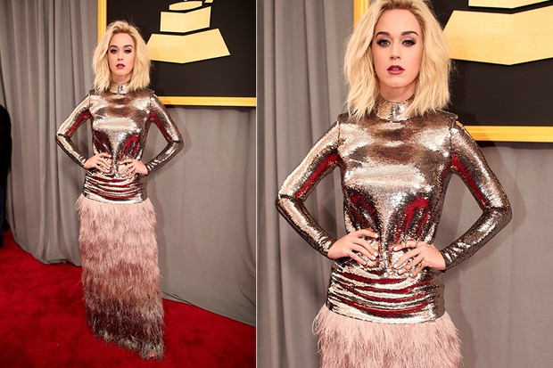 Katy Perry no Grammy (Foto: Agência Getty Images)