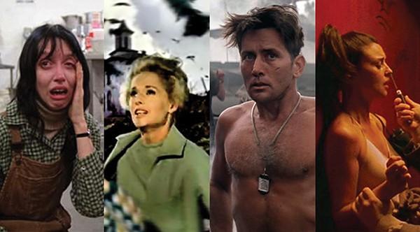 'O Iluminado' (1980), 'Os Pássaros' (1963), 'Apocalypse Now' (1979), 'Irreversível' (2002) (Foto: Divulgação)