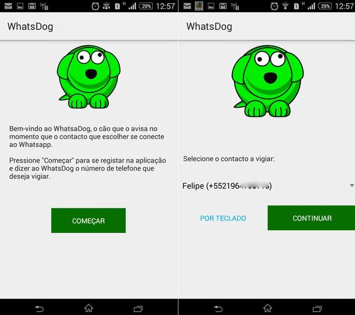 WhatsDog é um aplicativo não oficial do Whatsapp para monitorar contatos do mensageiro. (Foto: Reprodução/Luciana Vieira)