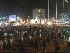 Manifestação pró-Dilma em Vitória, em 31 de agosto de 2016 (Foto: Naiara Arpini/ G1)
