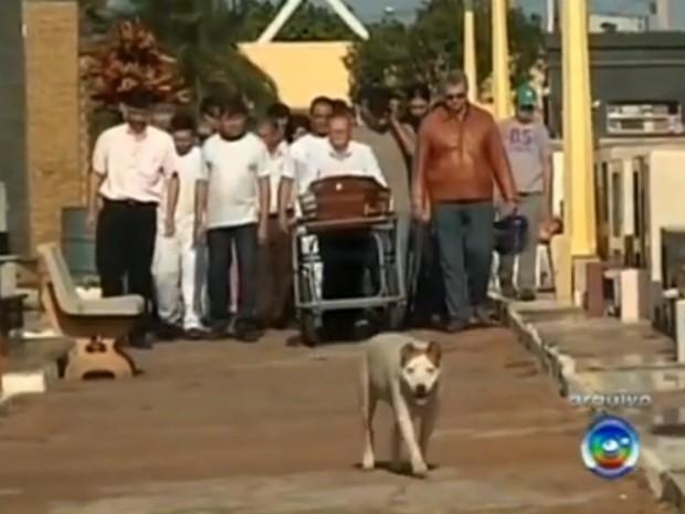 Branquinha acompanhava todos os sepultamentos de Avaré (SP) (Foto: Reprodução / TV TEM)
