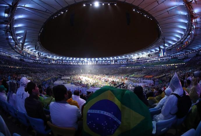 Maracanã durante cerimônia de encerramento (Foto: Getty Images)