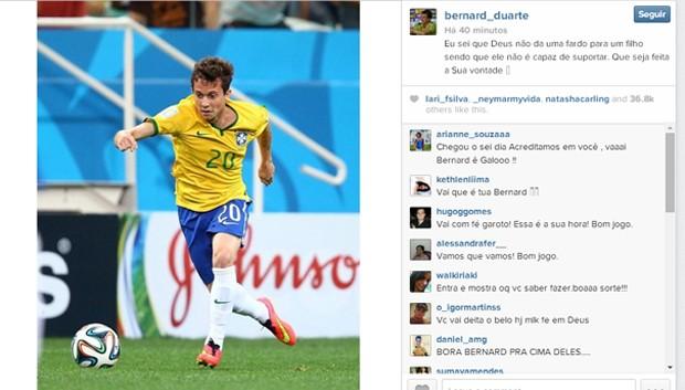 Post de Bernard no Instagram (Foto: Reprodução)
