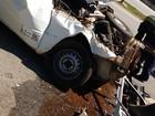 Colisão de picape e ônibus deixa um ferido em rodovia de Itu