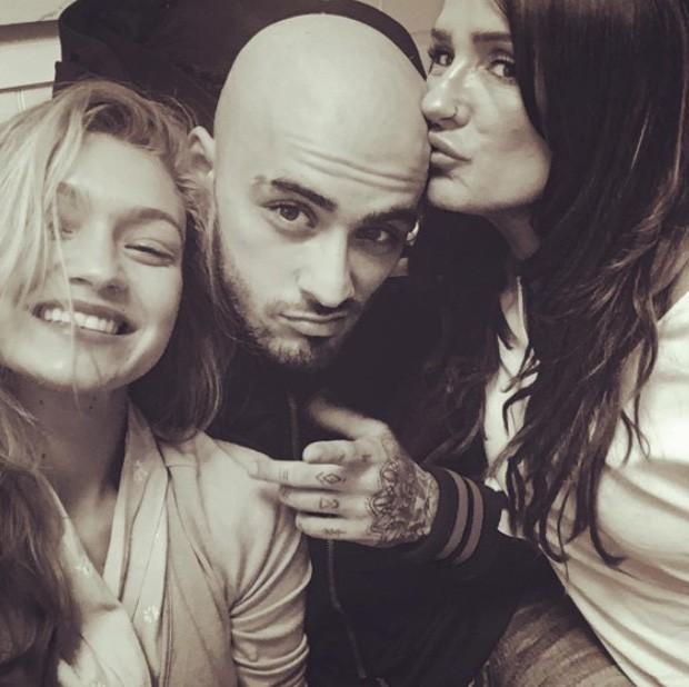Gigi Hadid, Zayn Malik e Trisha Malik (Foto: Reprodução/Instagram)