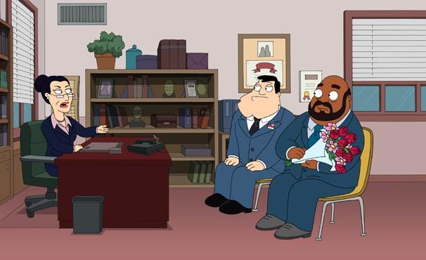 Stan manipula para que o diretor Lewis se case com a superintendente Ellen (Foto: Divulgação / Twentieth Century Fox)