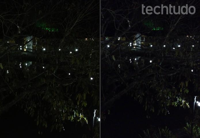 À esquerda, foto do iPhone 4S; à direita, foto em condição extrema do G Pro (Foto: Fabrício Vitorino / TechTudo)