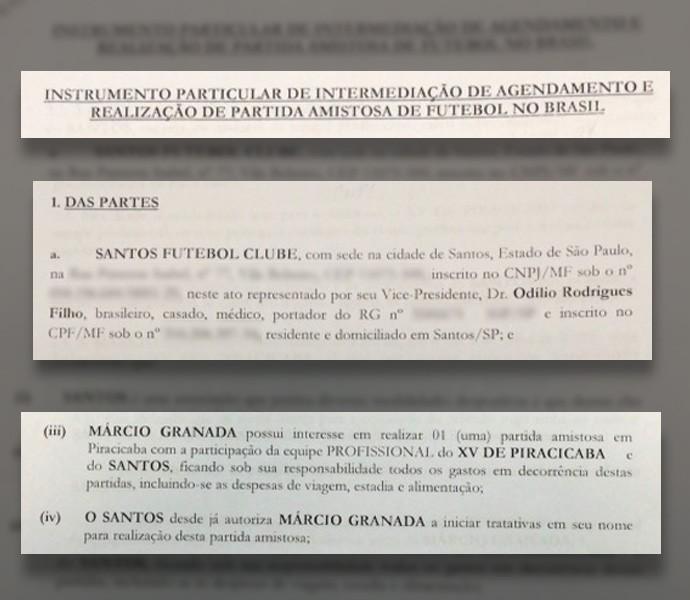 Documento santos (Foto: Globoesporte.com)