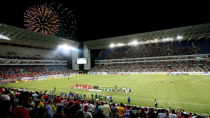 Arena Pantanal na partida entre Cuiabá e Internacional (Foto: Ednilson Aguiar/Secom-MT)
