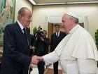Papa recebe rei da Espanha no Vaticano