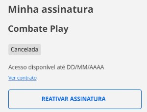 Reativar Combate (Foto: Combate Play)