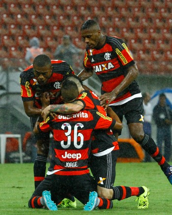 Jorge Gol Náutico x Flamengo Arena Pernambuco (Foto: Jean Nunes/Agência Estado)