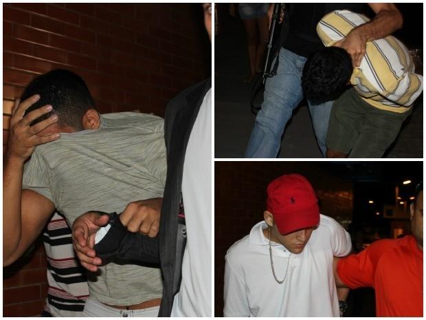 Suspeitos da execução das mortes da família Belota  (Foto: Mônica Dias (G1AM))