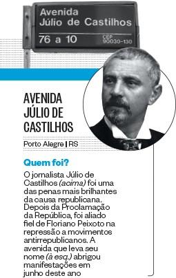 AVENIDA JÚLIO DE CASTILHOS (Foto: Reprodução)
