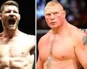 """Bisping se exalta em ataque a Lesnar: """"Nocauteio com um soco, seu v***"""""""