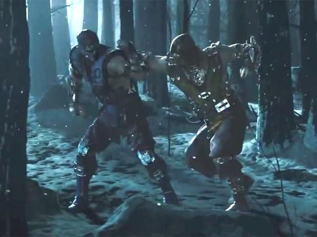 Sub-Zero e Scorpion travam combate sangrento em trailer de 'Mortal Kombat X' (Foto:  Reprodução/YouTube/Netherrealm))