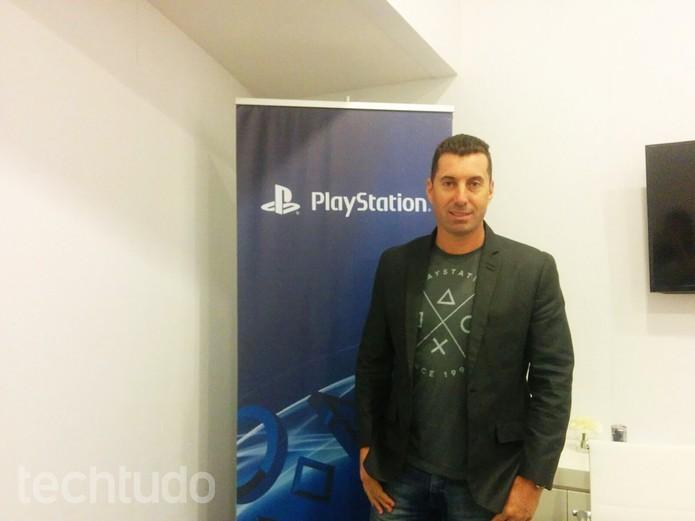 Anderson Gracias, chefe da PlayStation Brasil, afirmou que o preço do PS4 pode subir por causa do dólar (Foto: Elusa Costa/TechTudo)